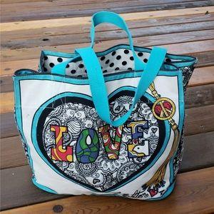 Brighton Summer of Love Canvas Hippie Tote Bag